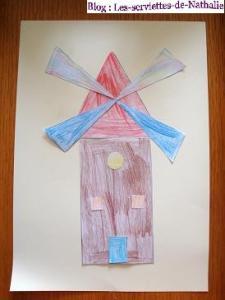 Fête du pain, moulin en formes géométrique, meunier... gabarits Mini_624565Moulingomtrieftedupaincollage