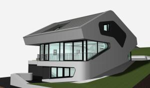 """Challenge thème : """"modélisation et rendu d'une maison atypique"""" - Silk37 & SB - ArchiCAD 17 - 3DS/V-Ray - Photoshop Mini_998866OLSHouseVuefinale"""