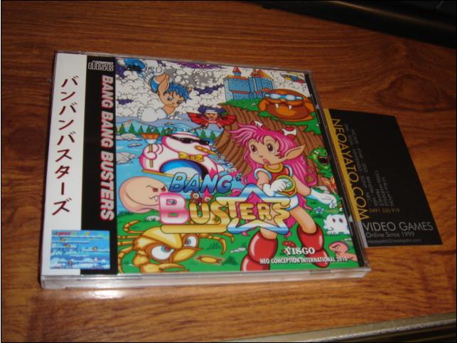 Bang Bang Busters version Neo-Geo CD 111118BBBusterCD