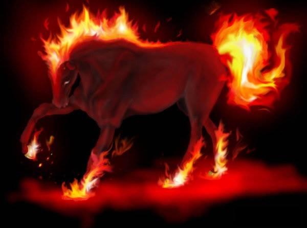 Bestiaire d'Ephaëlya  112006chevaldeflammes