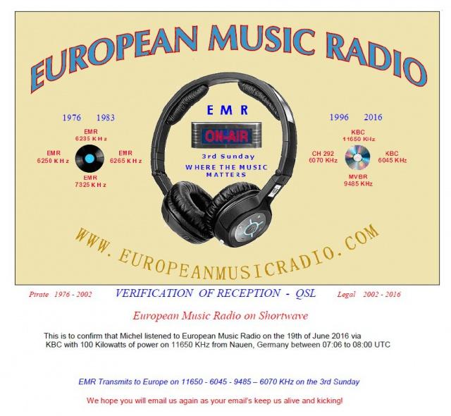 QSL EMR Radio. 112934EMR