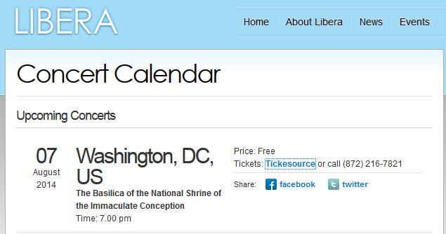 Washington DC - Concert & tournage de DVD: 7 août 2014 117774Liberaannounce