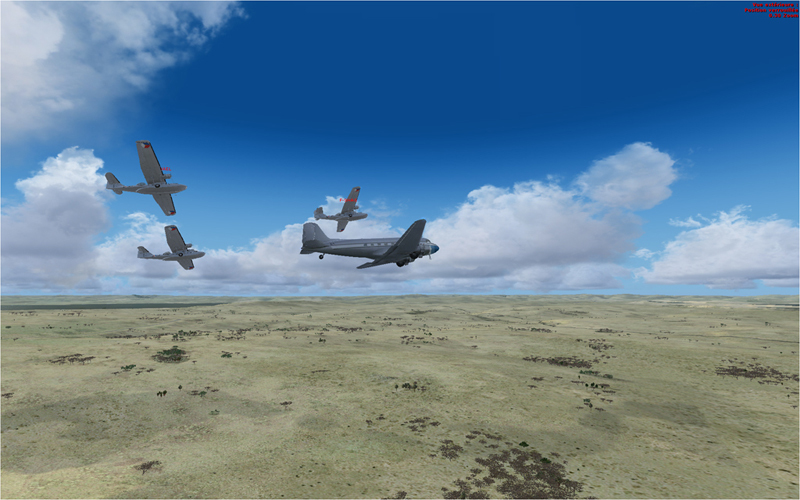 Vol en formation en Afrique (DC3) 1201602013222213940182