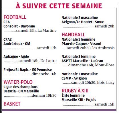 SPORTS DES CLUBS DE  MARSEILLE OU DE SA PERIPHERIE ........... - Page 2 126079512