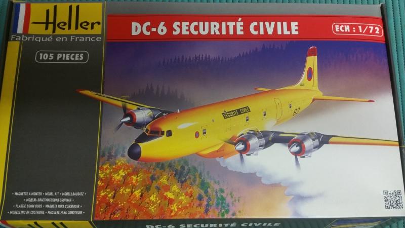 DOUGLAS DC-6B SECURITE CIVILE maquette HELLER au 1/72° 12830820171126125923
