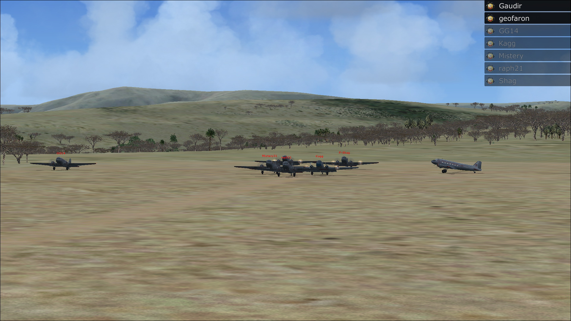 Vol en formation en Afrique (DC3) 133075201322222614301