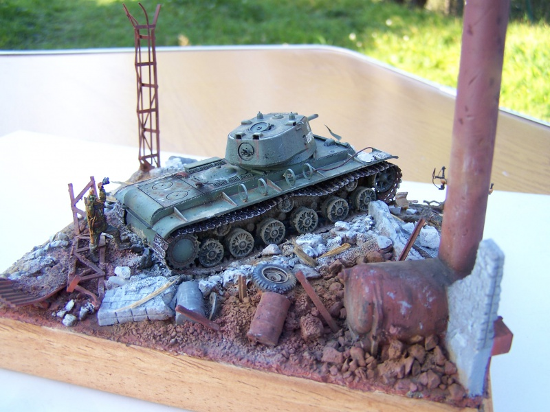 """Duel""  KV1c vs Panzergrenadiere Russie 42 1340591005503"