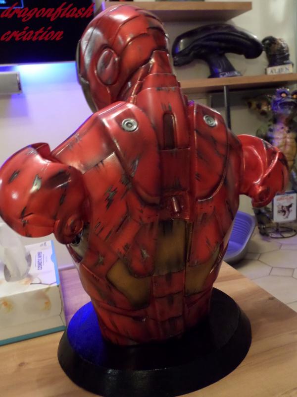 dragonflash création : buste iron man 1/2  (+-40 cm de haut) le final 134306SAM2853