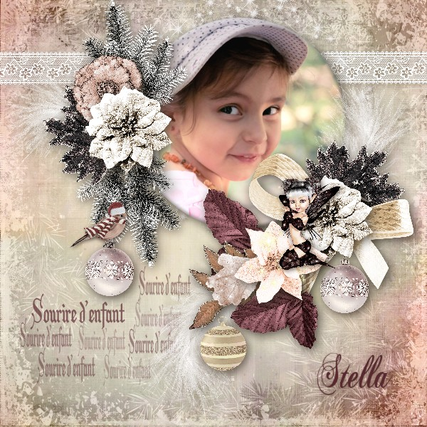 Mes pages CT Floralys scrap 135738KitColddecemberPerline6x6