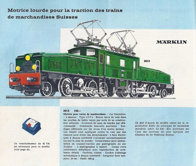 Coffret du centenaire de la traction électrique des C.F. suédois 136115Marklincatalogue1962
