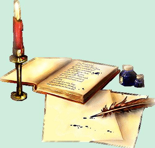 Rêve de poésie  138106BOUGIEETENCRIER