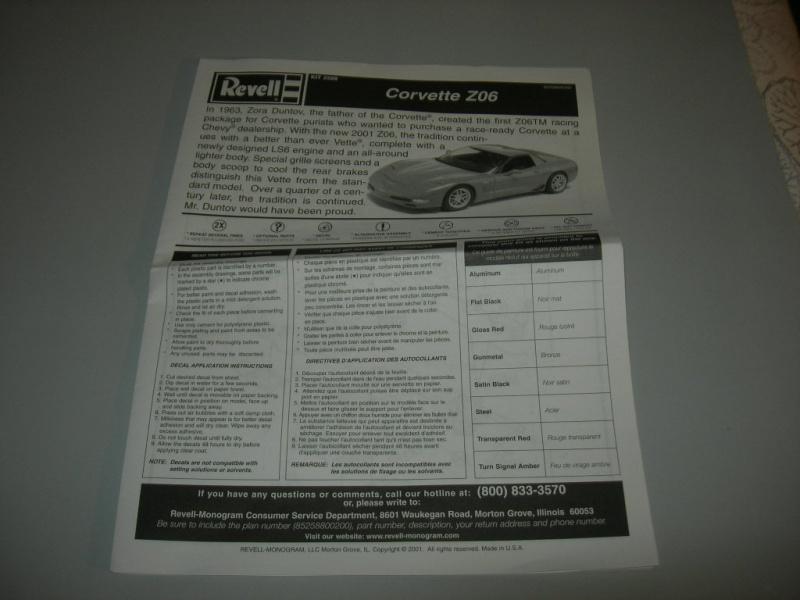 Chevrolet Corvette Z06 2001 Revell. 140345DSCN9112