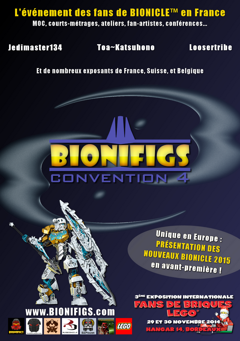 [Expo] BIONIFIGS Convention 4 : Les Bionicle 2015 à Bordeaux fin novembre 143883AfficheConvention4frv2rduite