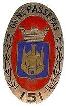 Sergent Emile THIRY  BM/151èRI  MPLF  27/3/1947 148259130pxInsignergimentairedu151ergimentdinfanterie