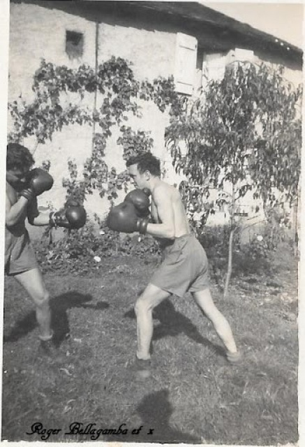 Recherche d'un parent engagé au 1er Bataillon de choc à Staoueli en 1943 :Roger BELLELAGAMBA 154759boxeBellagambax