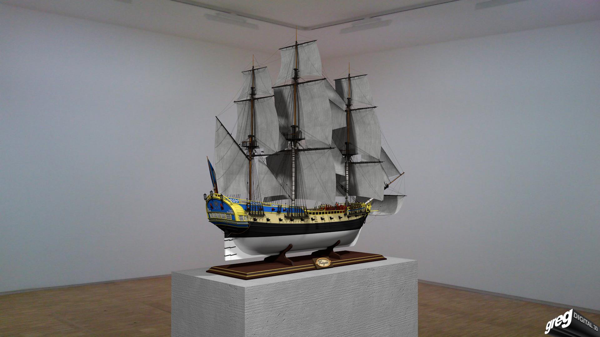 Frégate m'a première réalisation d'un navire en 3D. 155600Frgatemuse2