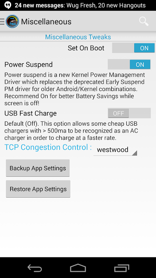 [KERNEL] Faux v012 Nexus 5 Kernel [19.03.2014] - Page 2 160160Screenshot20131104230954