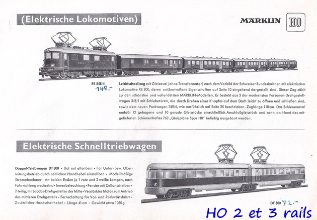 Coffrets Märklin 1936 - 1968 (rouges, noirs, verts ou bleus) 163113Marklincatalogue19504R