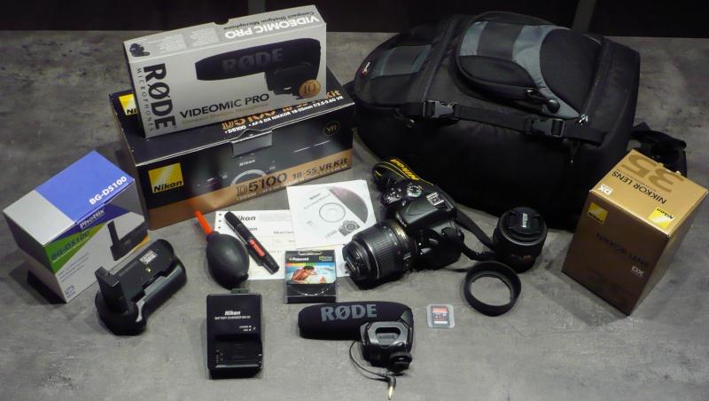 Vendu Reflex Nikon + objectifs + micro 168860P1030552