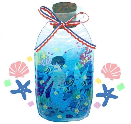 He's a mermaid, my sweet Kiku-chan (◕‿◕)♡ 171566111