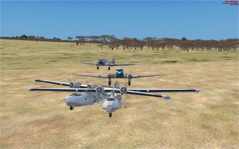 Vol en formation en Afrique (DC3) 17249720132222237212