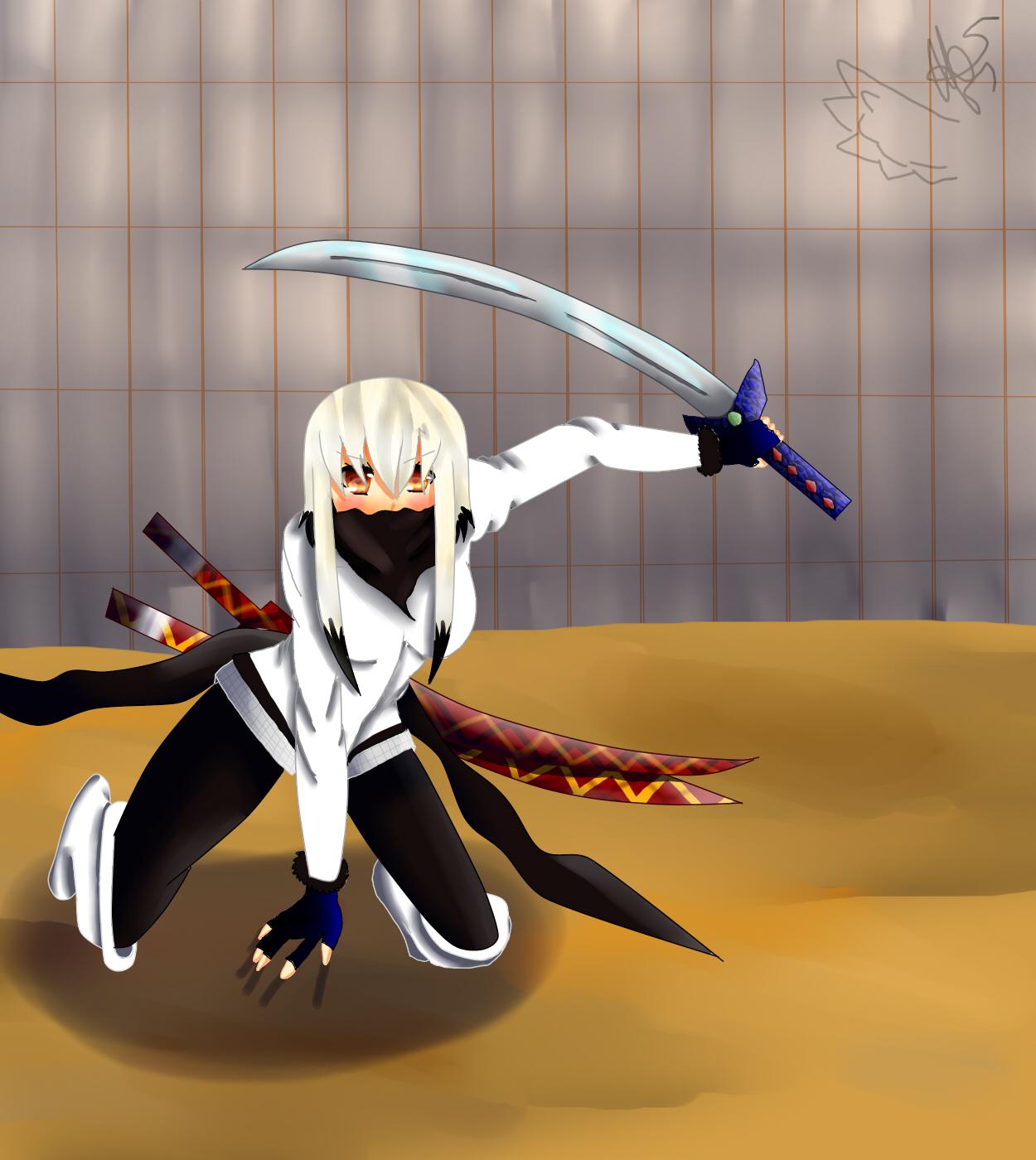 une fille avec un petit katana :3 173621fight