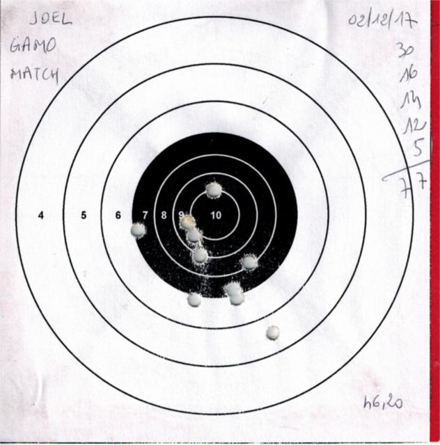 Tests plombs avec carabine Gamo Replay 181445GAMOREPLAYGAMOMATCH4