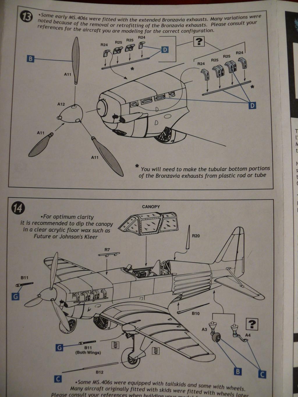 Morane Saulnier MS406 1/48 Classic Airframe 185485P1090594