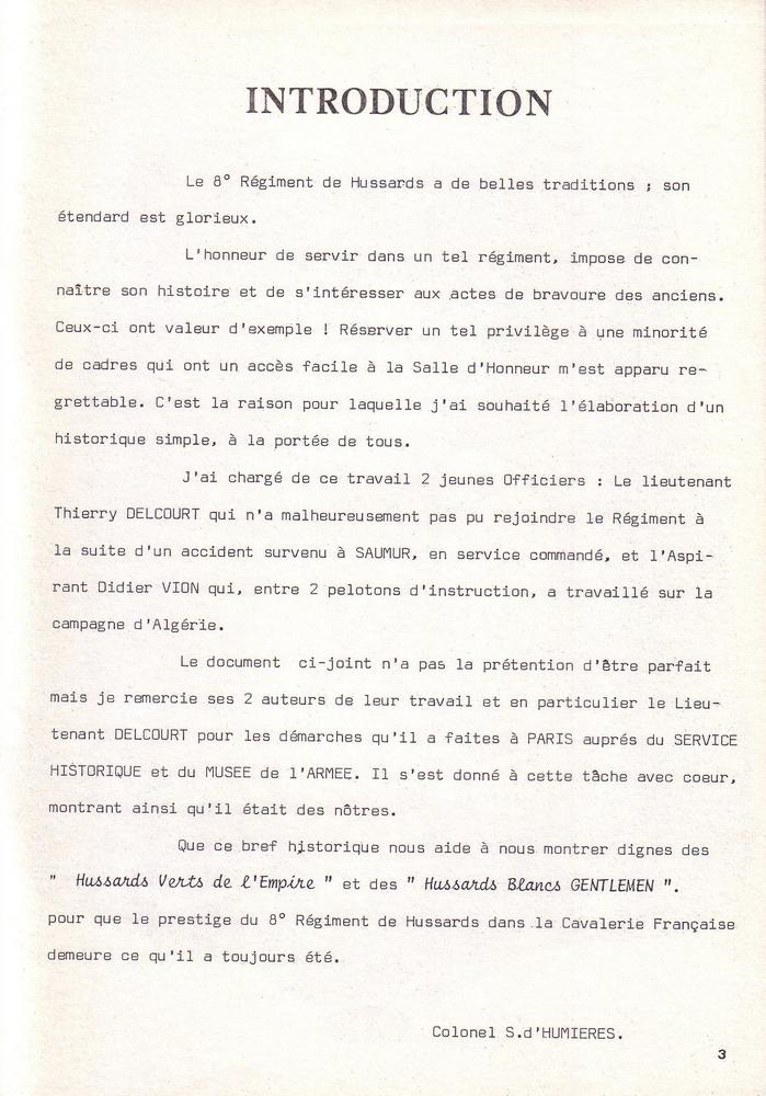 L'épopée Napoléonienne du 8 ème Régiment de Hussards  187349Historique8RHN03