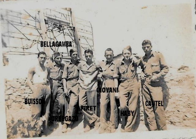 Recherche d'un parent engagé au 1er Bataillon de choc à Staoueli en 1943 :Roger BELLELAGAMBA 192935groupe1