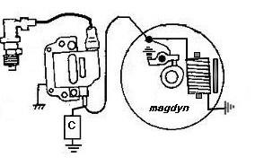 Magneto basse tension pour B33 194325volantmagnet