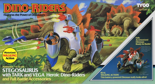 Les jouets DINO-RIDERS ( dinoriders ) - IDEAL 194681StegosaurusFront