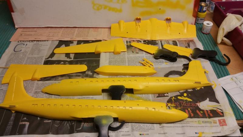 DOUGLAS DC-6B SECURITE CIVILE maquette HELLER au 1/72° 19663620171203173520