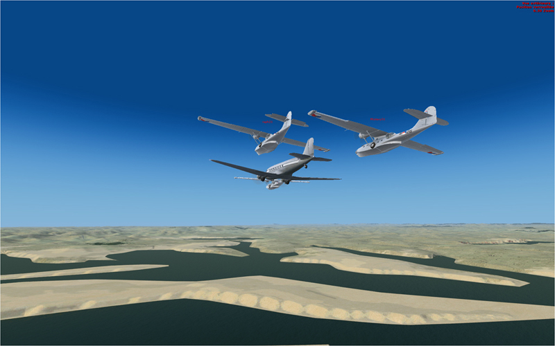 Vol en formation en Afrique (DC3) 1972252013222214246263