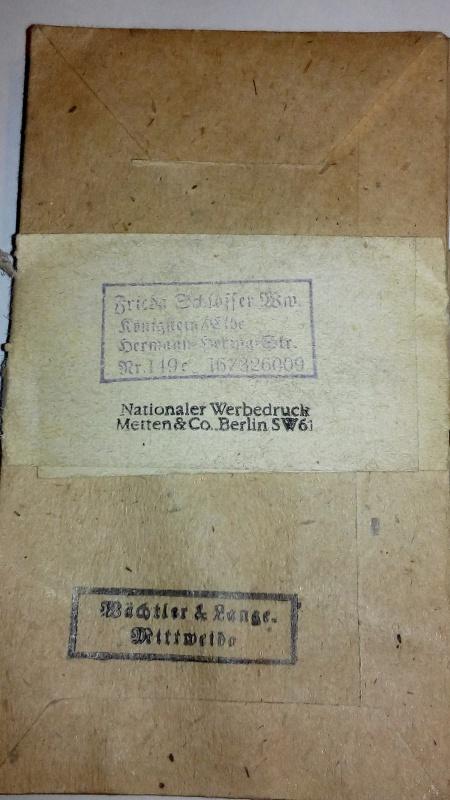 Paperasse panzerfaust,SA,sachet medaille 200577IMG20160121182823