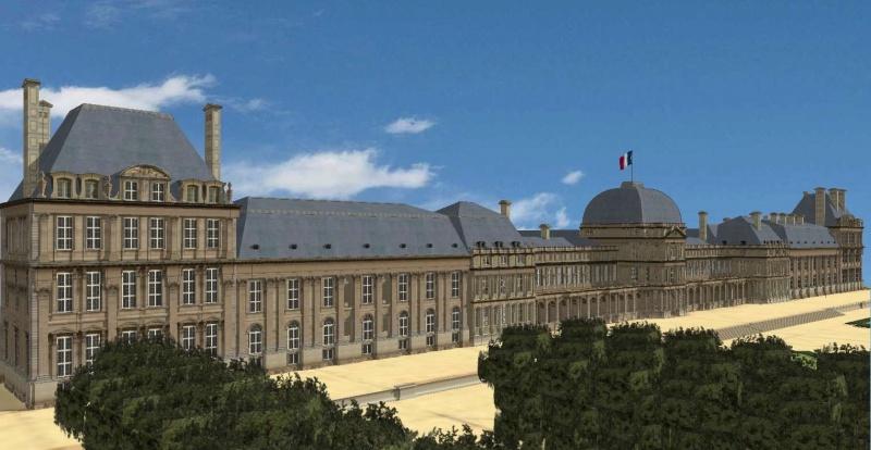Reconstitution virtuelle du Palais des Tuileries, états Premier Empire et Second Empire 2036680palais