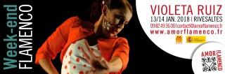 FLAMENCO | Stages + Spectacle avec Violeta Ruiz | 13/14 janvier 2018 | Rivesaltes 206106BANVioleta18site