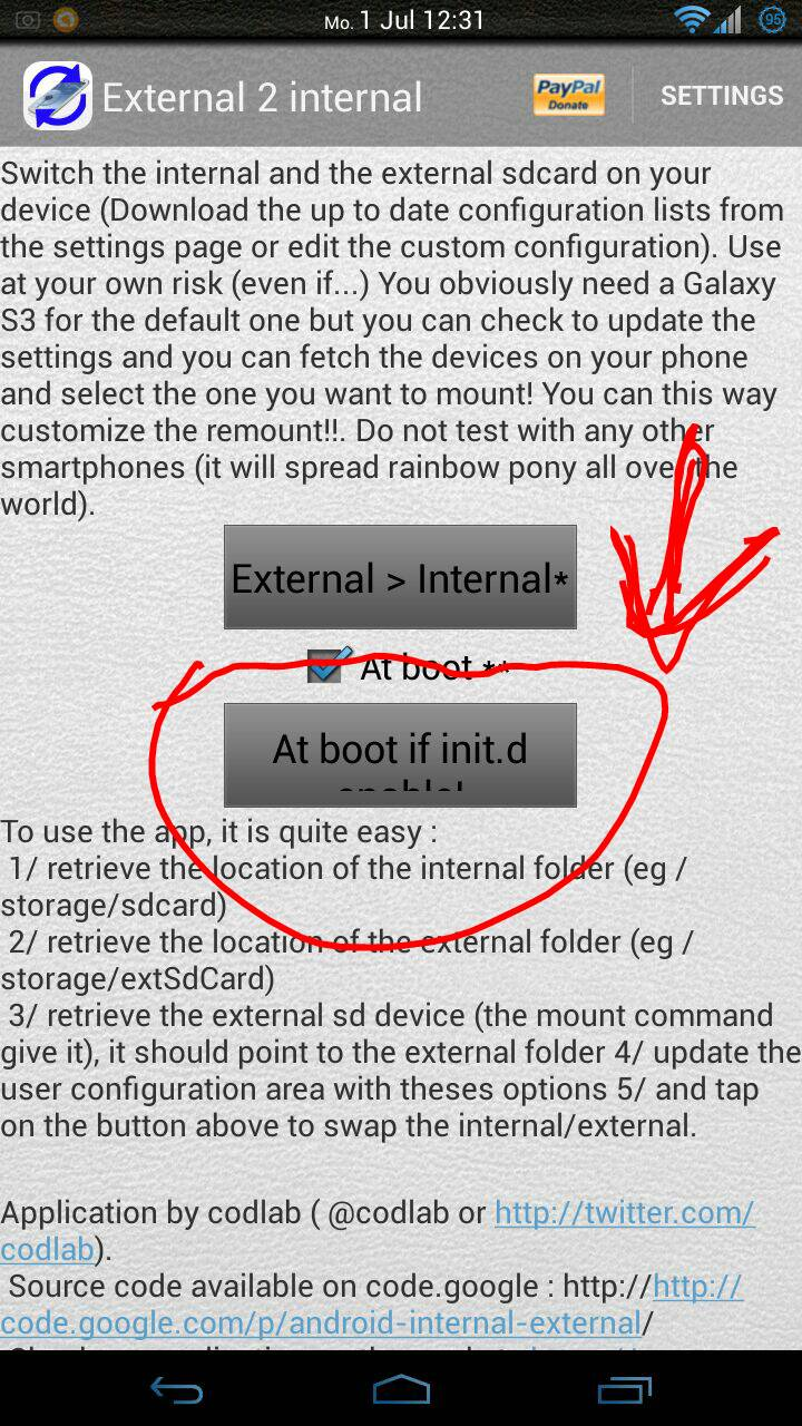 [ASTUCE][ROOT] External 2 Internal SD : Intervertir les mémoires interne et externe sous ROM basée AOSP [01/07/2013] 207261sudygaju
