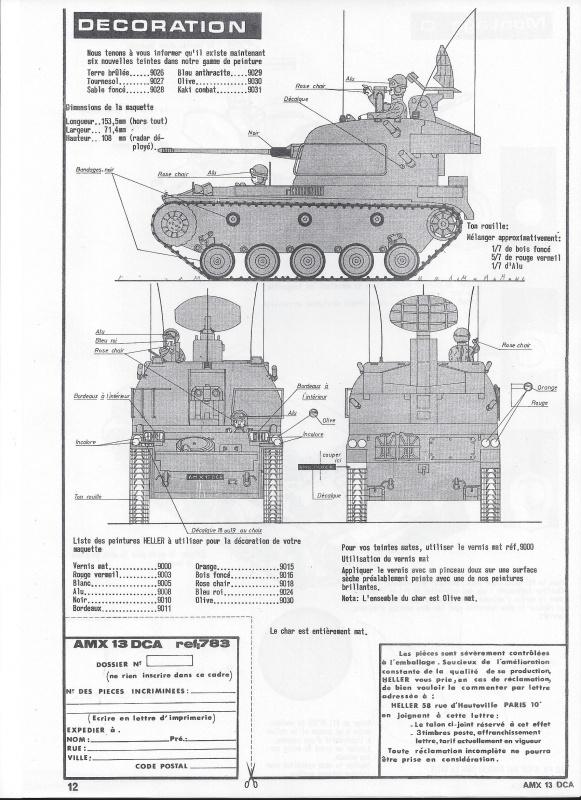AMX 13 DCA - (Réf. L783) 1/35  207336AMX13DCA783013Heller135