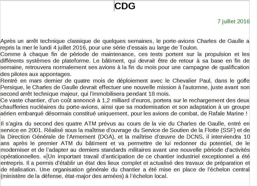 [ Porte-Avions Nucléaire ] Charles De Gaulle Tome 3 - Page 2 208012CDG1