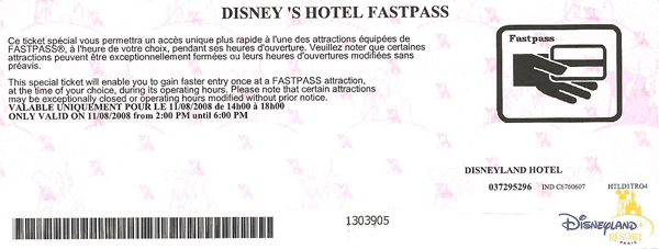 [Fastpass] Le système Fastpass, VIP Fastpass, Fastpass PREMIUM & Disney's Hotel Fastpass 212108HotelFastpass