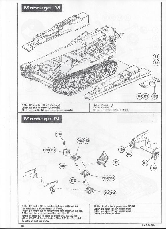 AMX 13 canon de 155 - (Réf. L782) 1/35 220629AMX13155782011Heller135