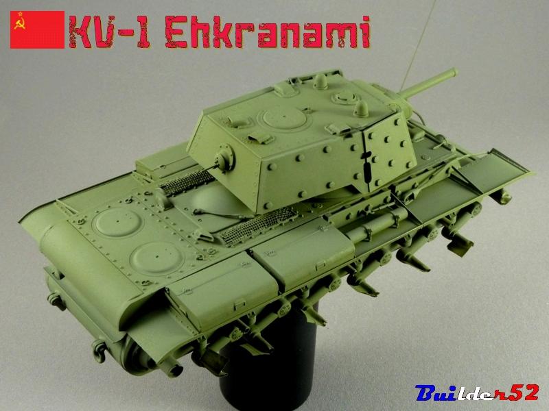 KV-1 Ehkranami  -  TRUMPETER 1/35 - Page 3 222808P1030173