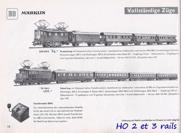 Coffrets Märklin 1936 - 1968 (rouges, noirs, verts ou bleus) 225054Marklincatalogue19503R