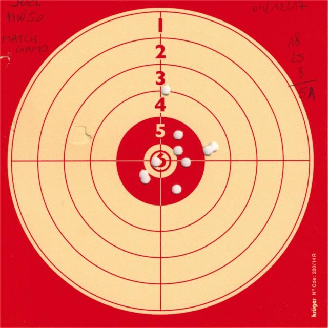 weihrauch - Tests plombs avec carabine Weihrauch HW50S 225216HW50GAMOMATCH