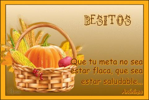 Canasta Saludable con Frase 233975BESITOS