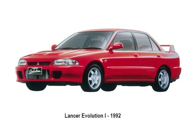 1917-2017 : 100 ans d'automobiles Mitsubishi - 80 ans de patrimoine 4x4 234534lancerevolution11992