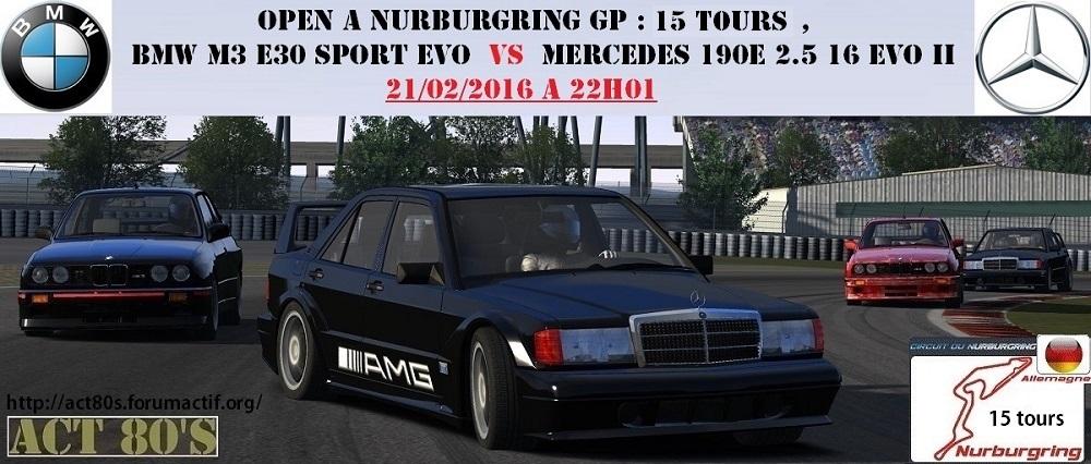 Open Bmw M3 E30 Sport Evo vs Mercedes 190E 2.5 16 Evo II , le 21/02/2016 235921509561openm3190eCopie