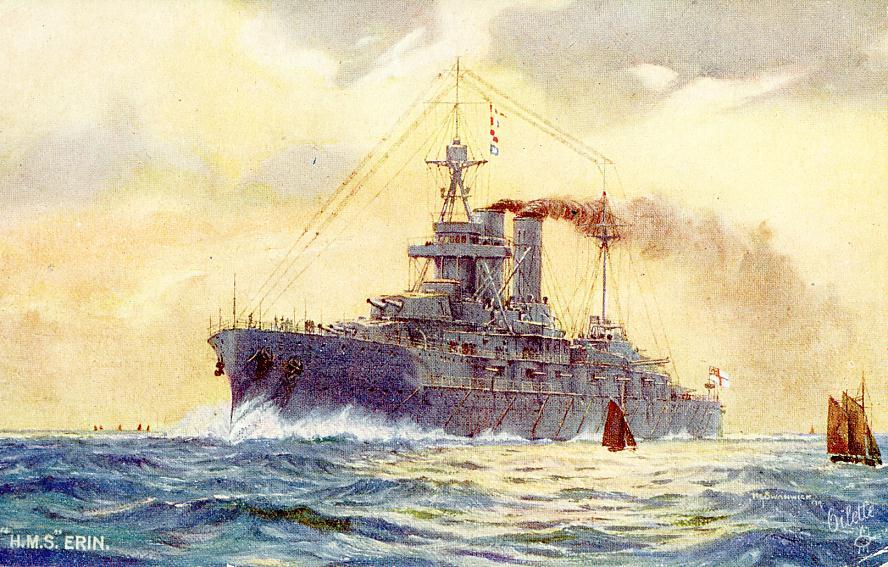ROYAL NAVY CUIRASSE HMS ERIN  23971936sg