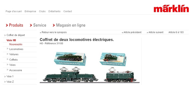 Coffret du centenaire de la traction électrique des C.F. suédois 242278Marklin31100